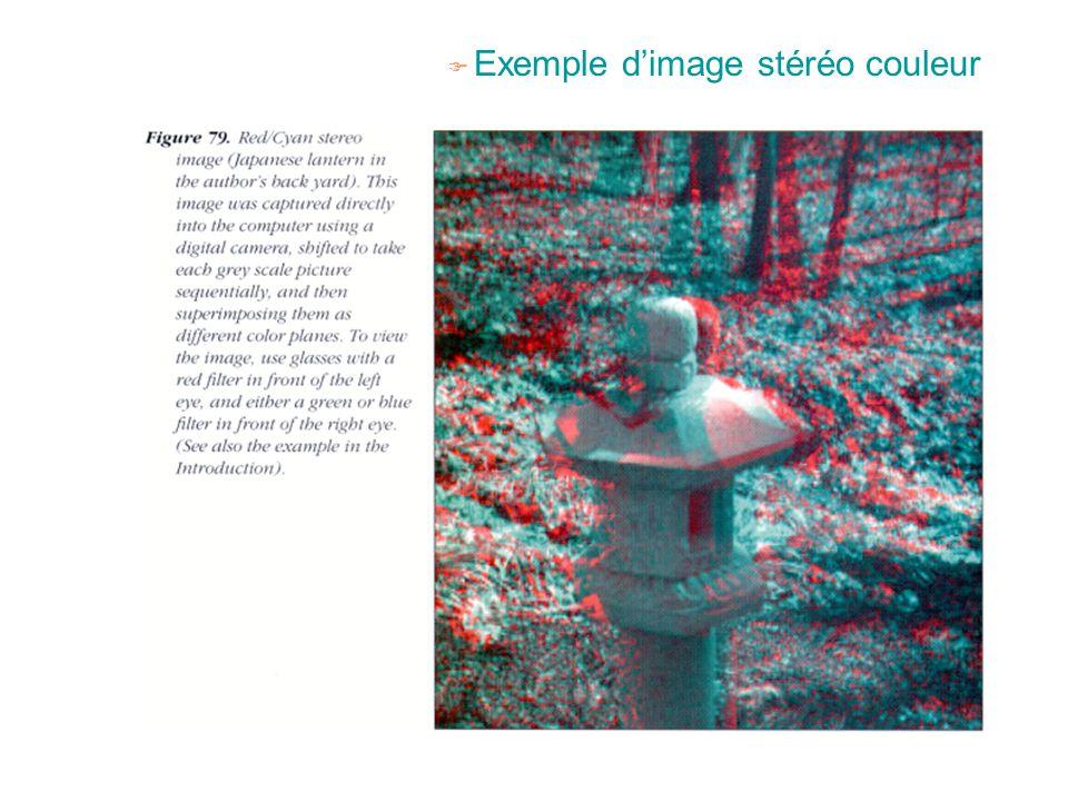 Exemple d'image stéréo couleur