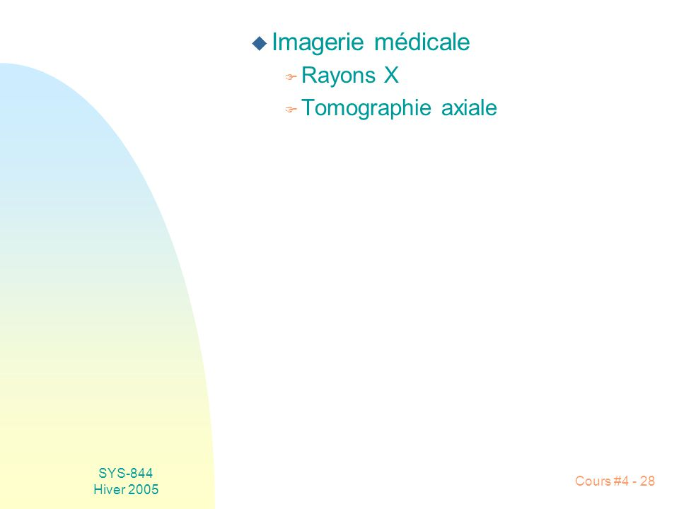 Imagerie médicale Rayons X Tomographie axiale