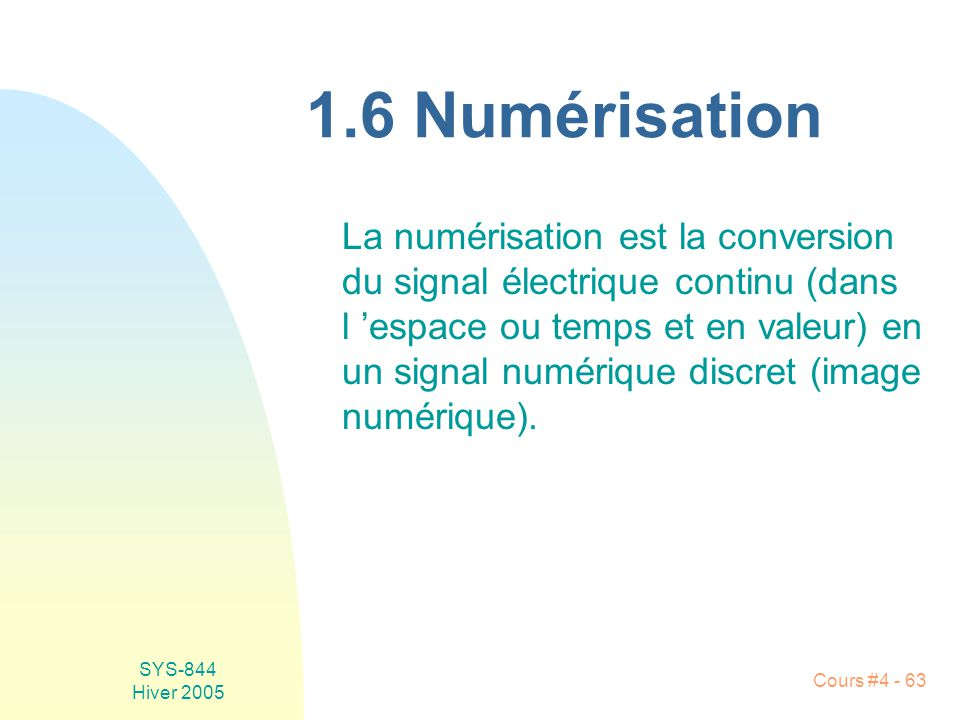1.6 Numérisation