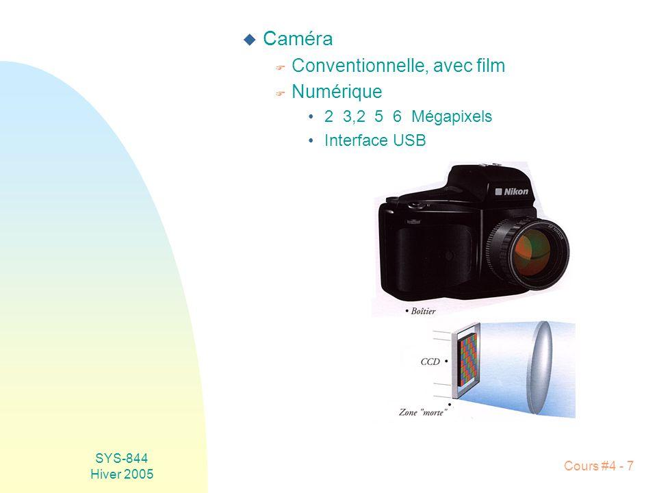 Caméra Conventionnelle, avec film Numérique 2 3,2 5 6 Mégapixels