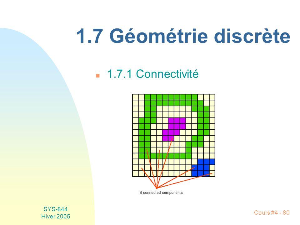 1.7 Géométrie discrète 1.7.1 Connectivité