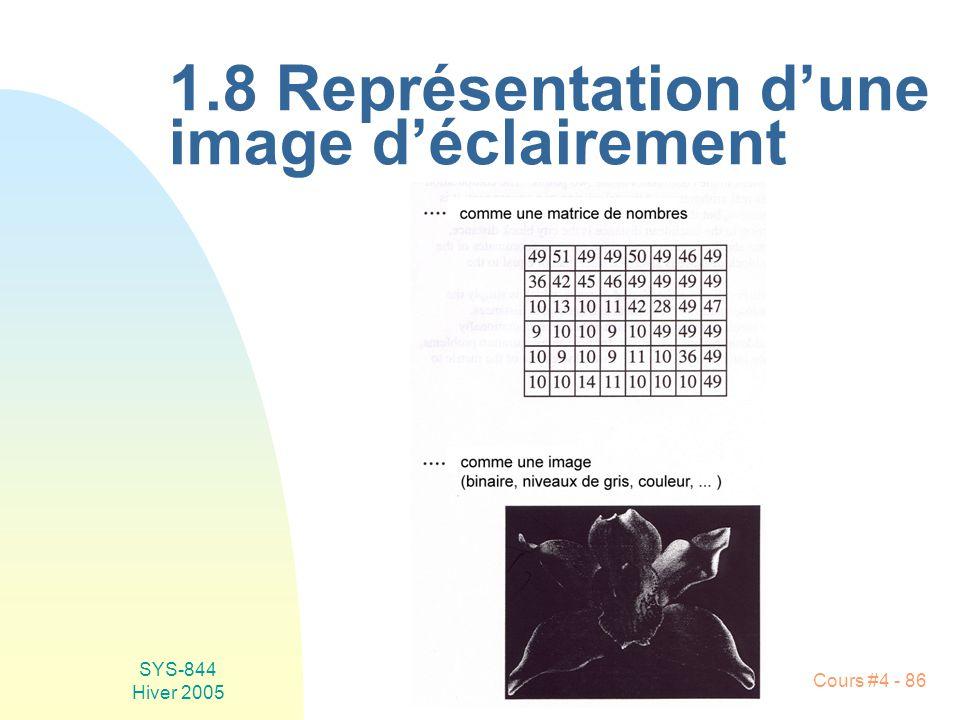1.8 Représentation d'une image d'éclairement
