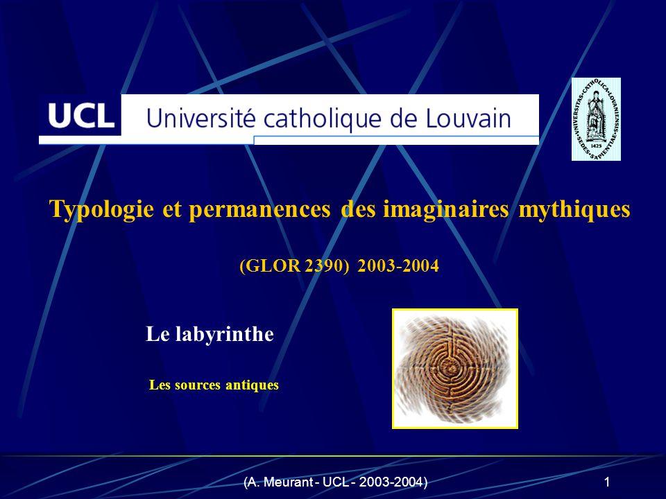 Typologie et permanences des imaginaires mythiques (GLOR 2390) 2003-2004
