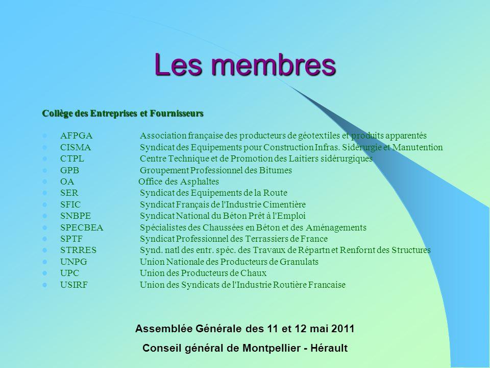 Les membres Assemblée Générale des 11 et 12 mai 2011