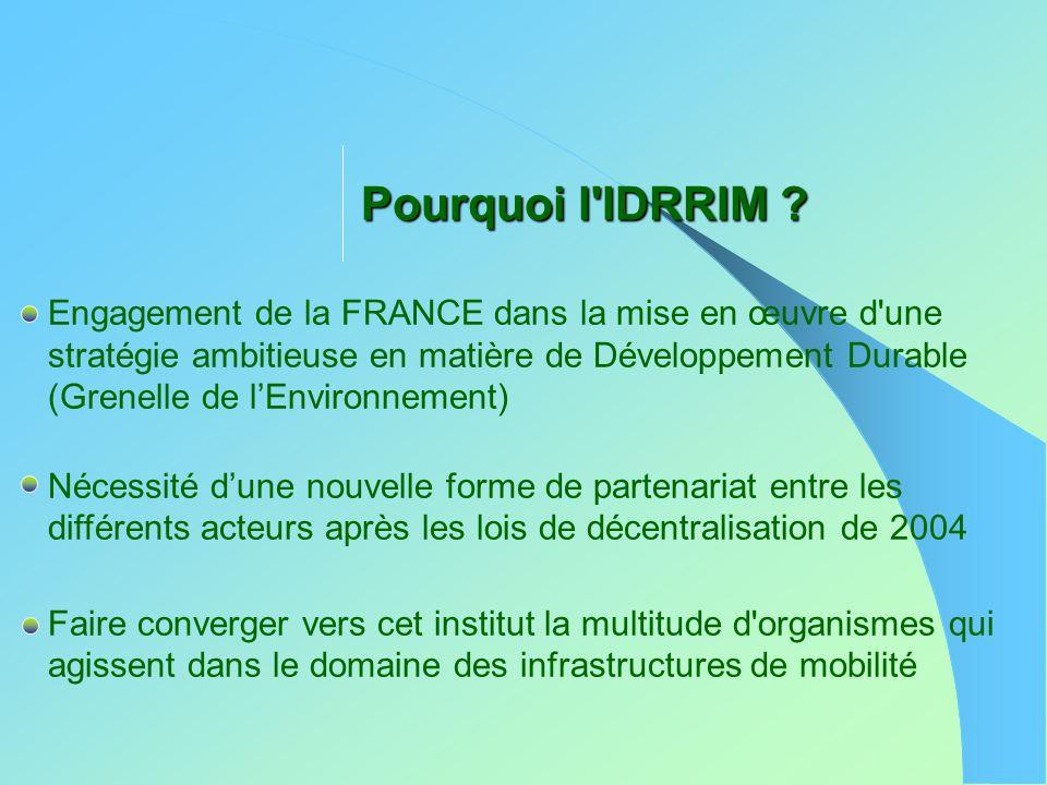 Pourquoi l IDRRIM