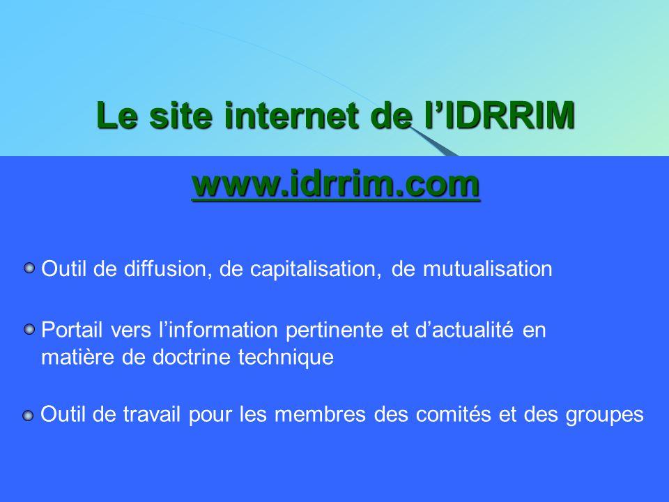 Le site internet de l'IDRRIM