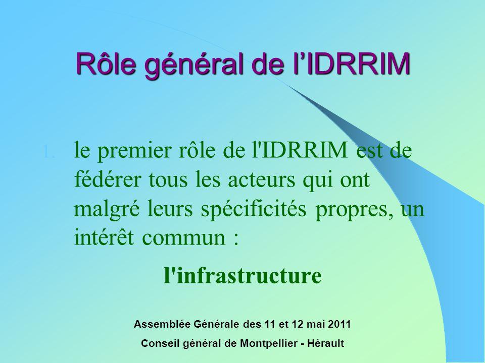 Rôle général de l'IDRRIM