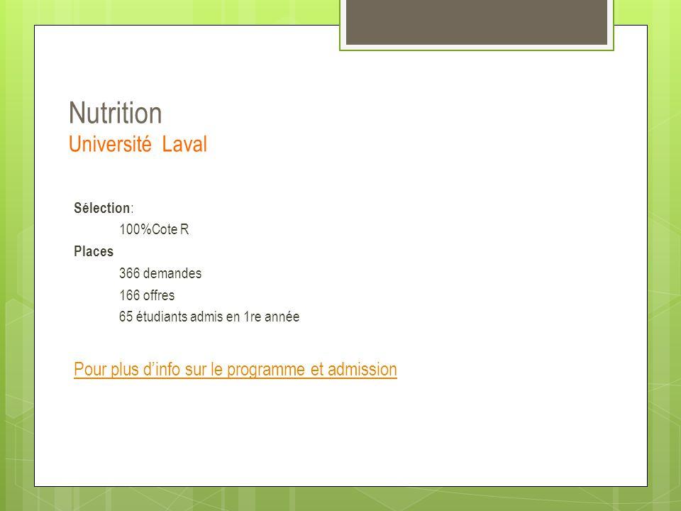 Nutrition Université Laval