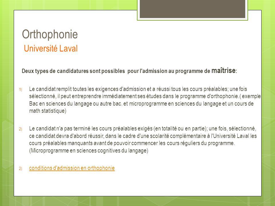Orthophonie Université Laval