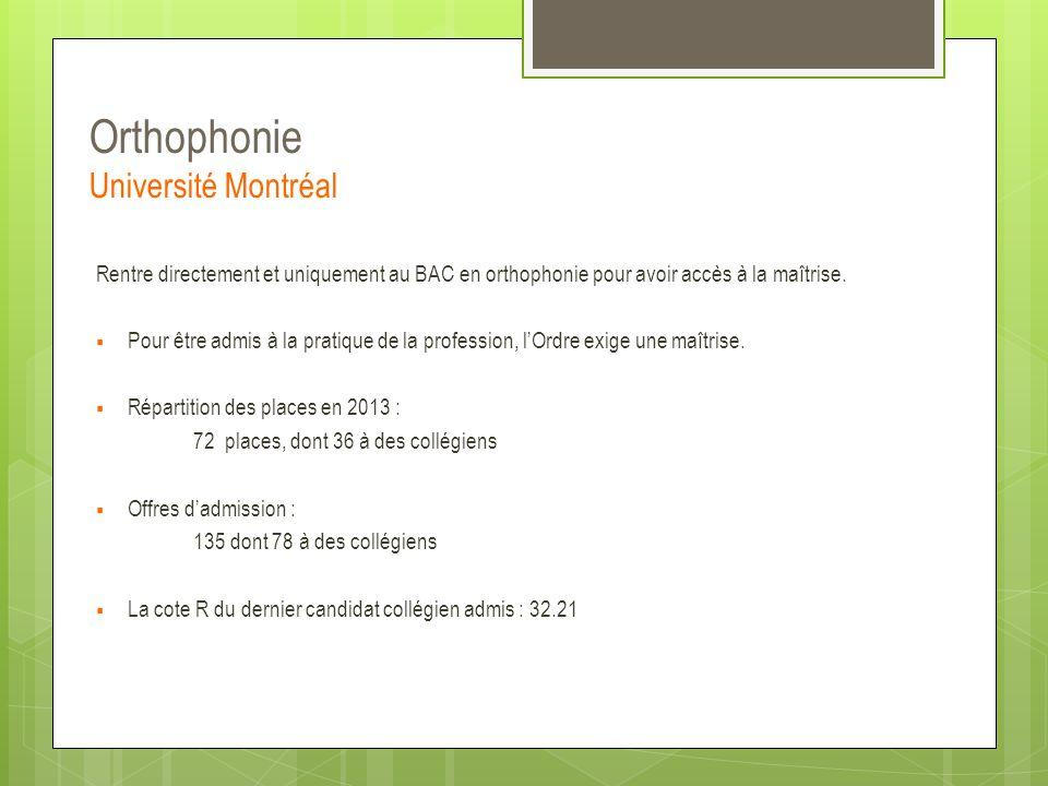 Orthophonie Université Montréal