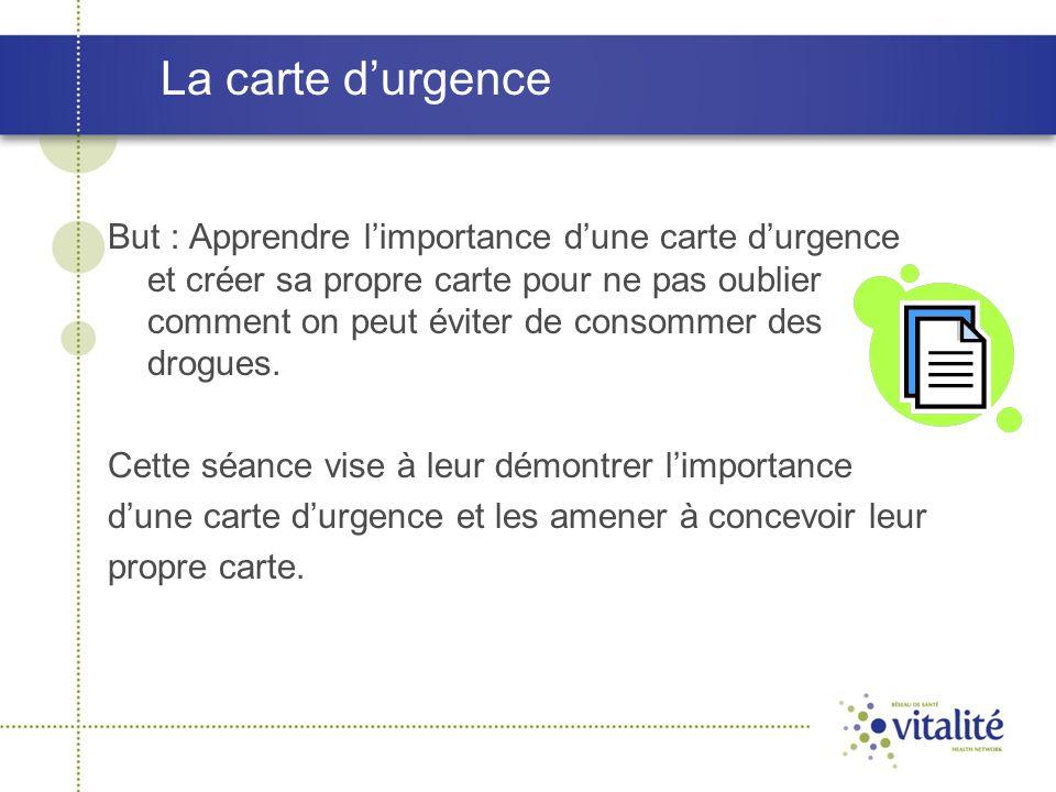La carte d'urgence
