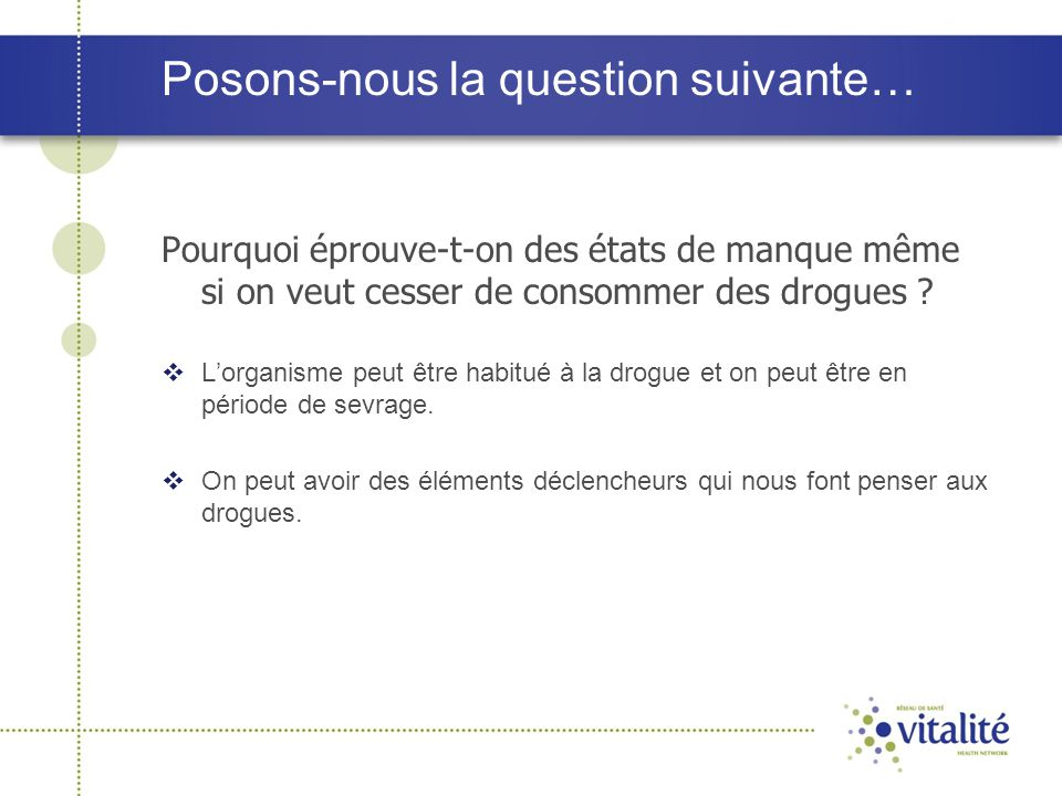 Posons-nous la question suivante…