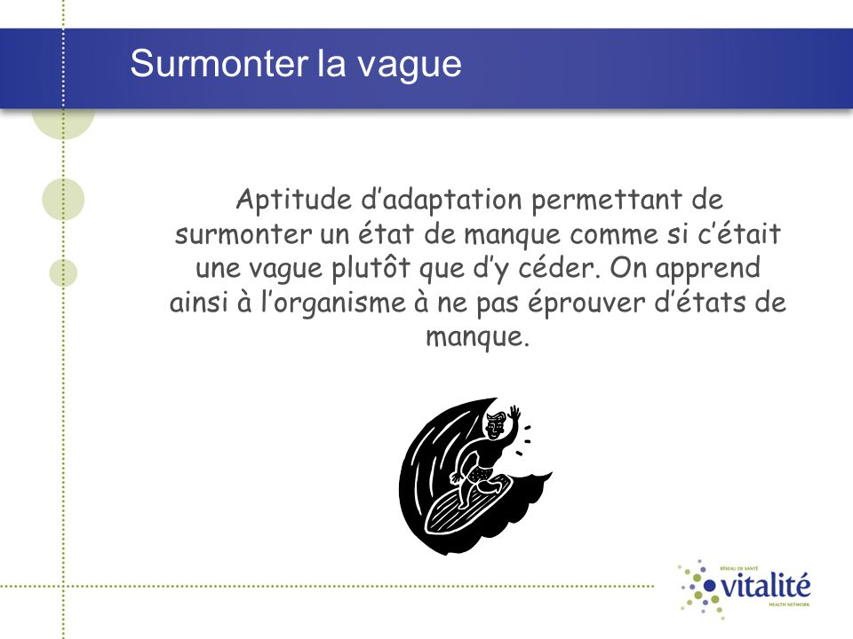 Surmonter la vague
