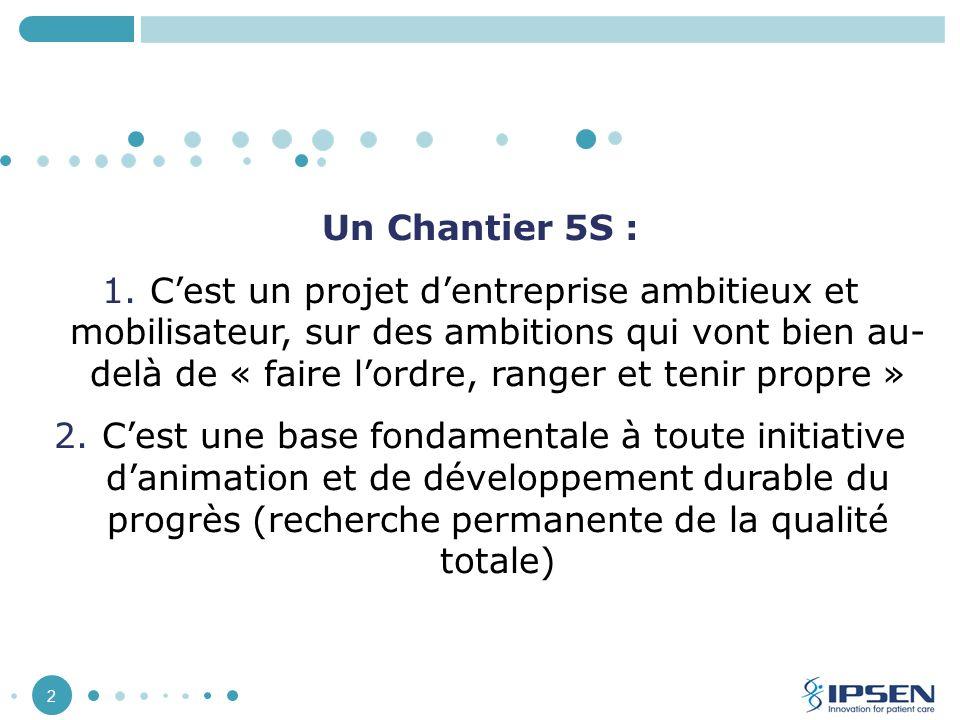 Un Chantier 5S :