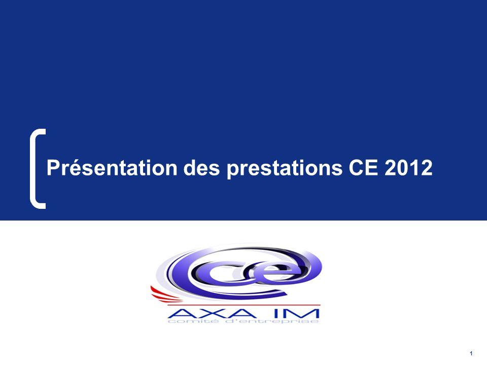 Présentation des prestations CE 2012