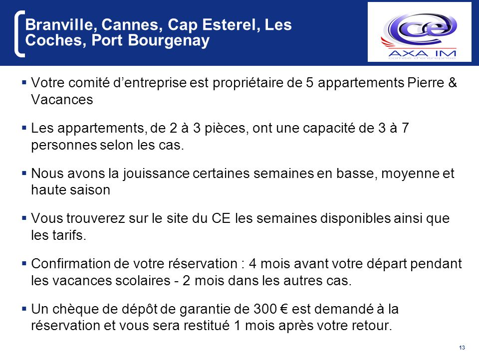 Branville, Cannes, Cap Esterel, Les Coches, Port Bourgenay