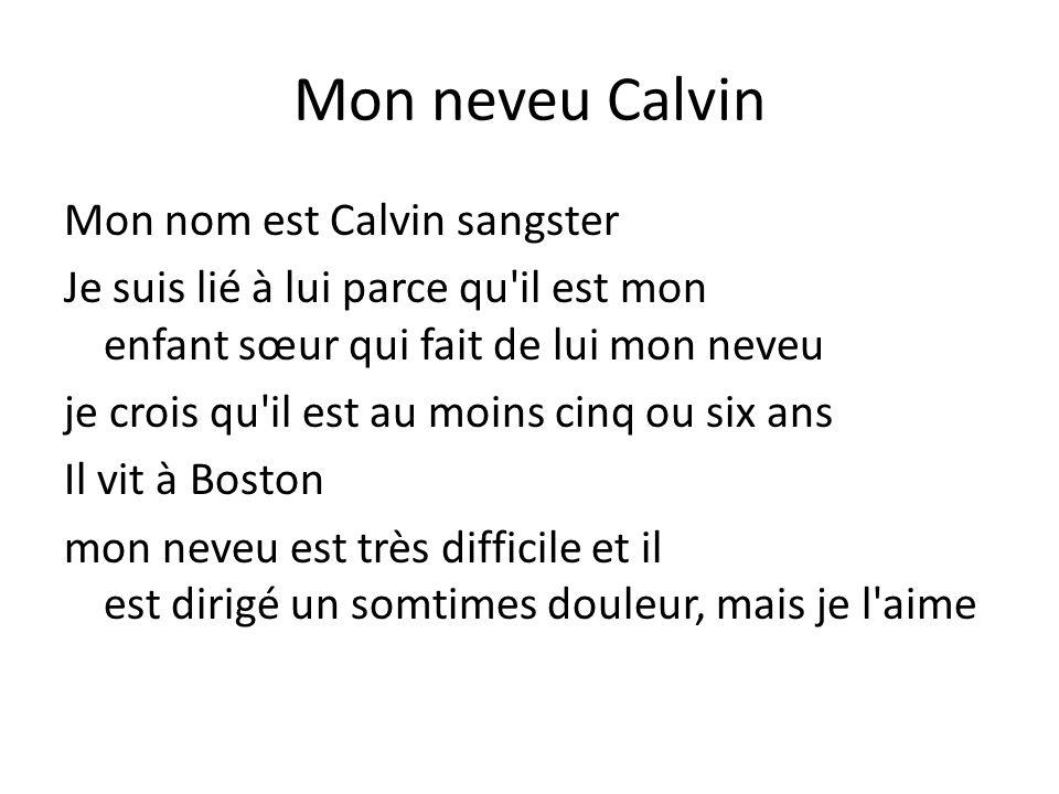 Mon neveu Calvin