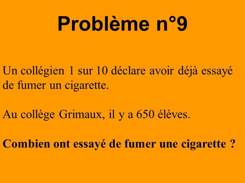 Problème n°10 Dans une classe de 28 élèves les sont externes.