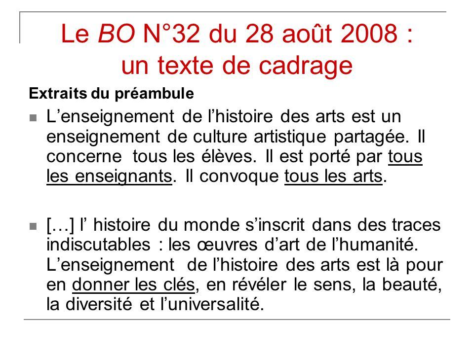 Le BO N°32 du 28 août 2008 : un texte de cadrage
