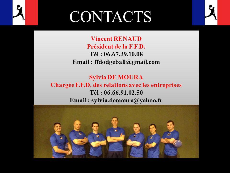 CONTACTS Vincent RENAUD Président de la F.F.D. Tél : 06.67.39.10.08