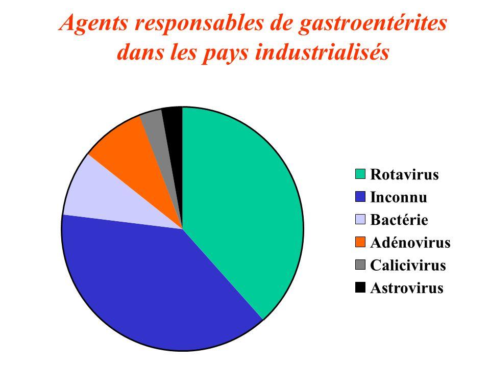 Agents responsables de gastroentérites dans les pays industrialisés