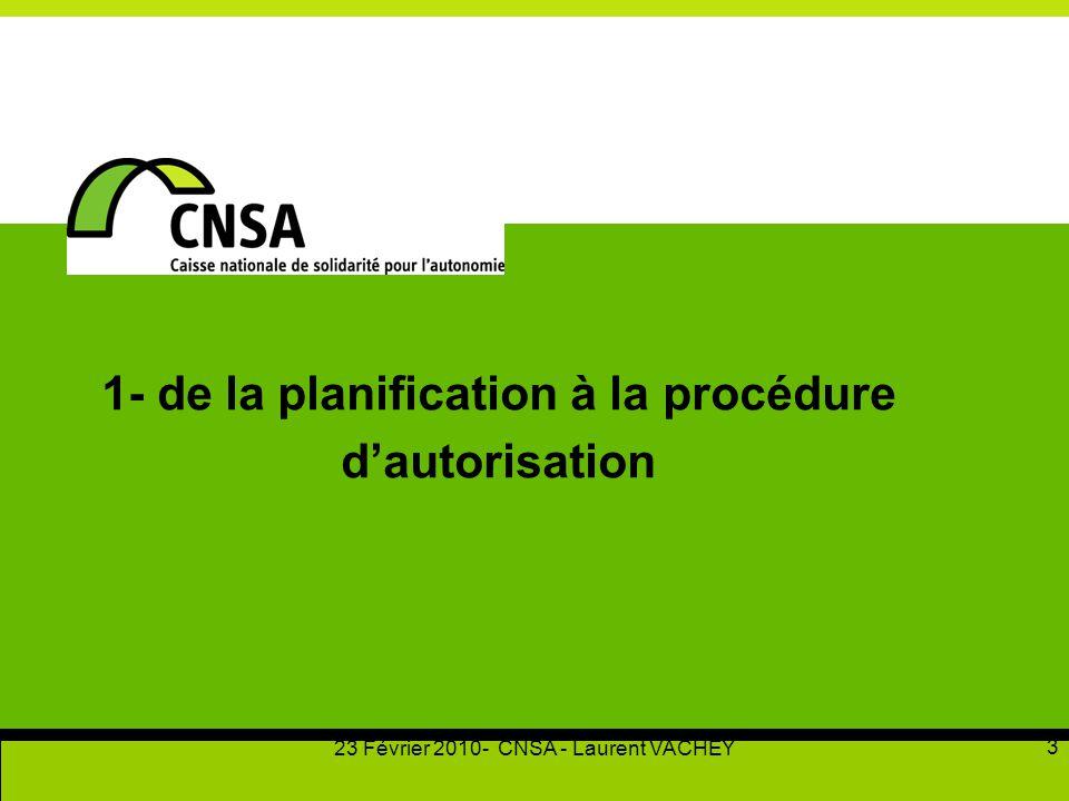 1- de la planification à la procédure d'autorisation