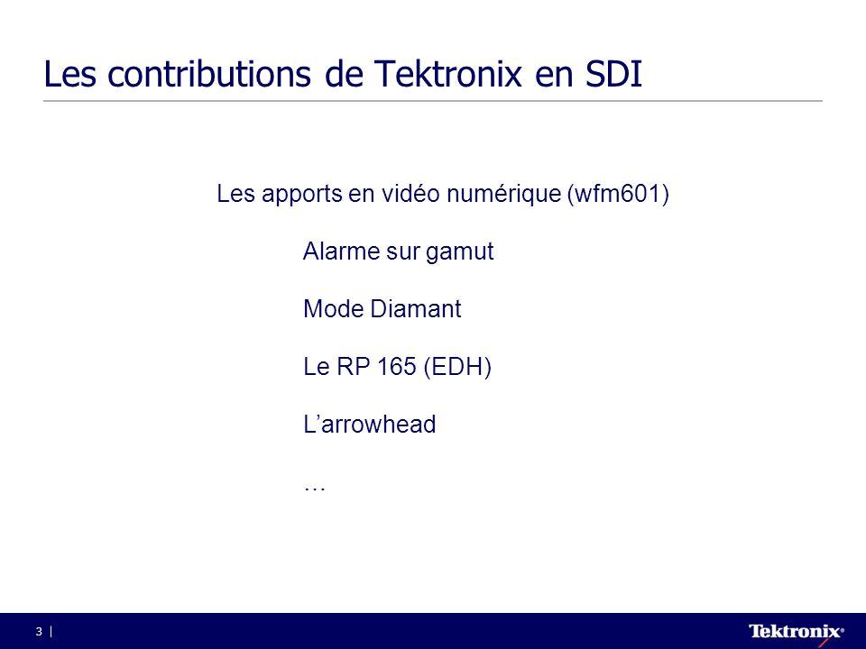 Les contributions de Tektronix en SDI