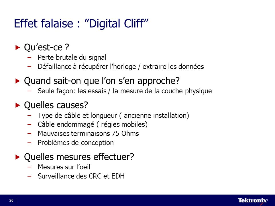 Effet falaise : Digital Cliff