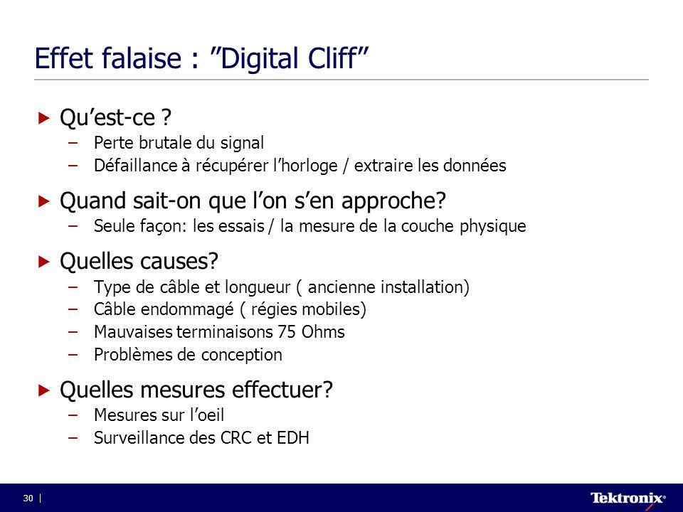 Effet falaise : Digital Cliff
