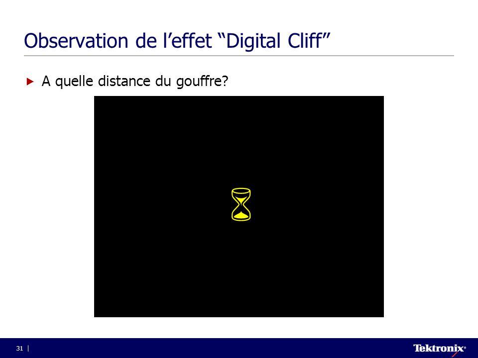 Observation de l'effet Digital Cliff