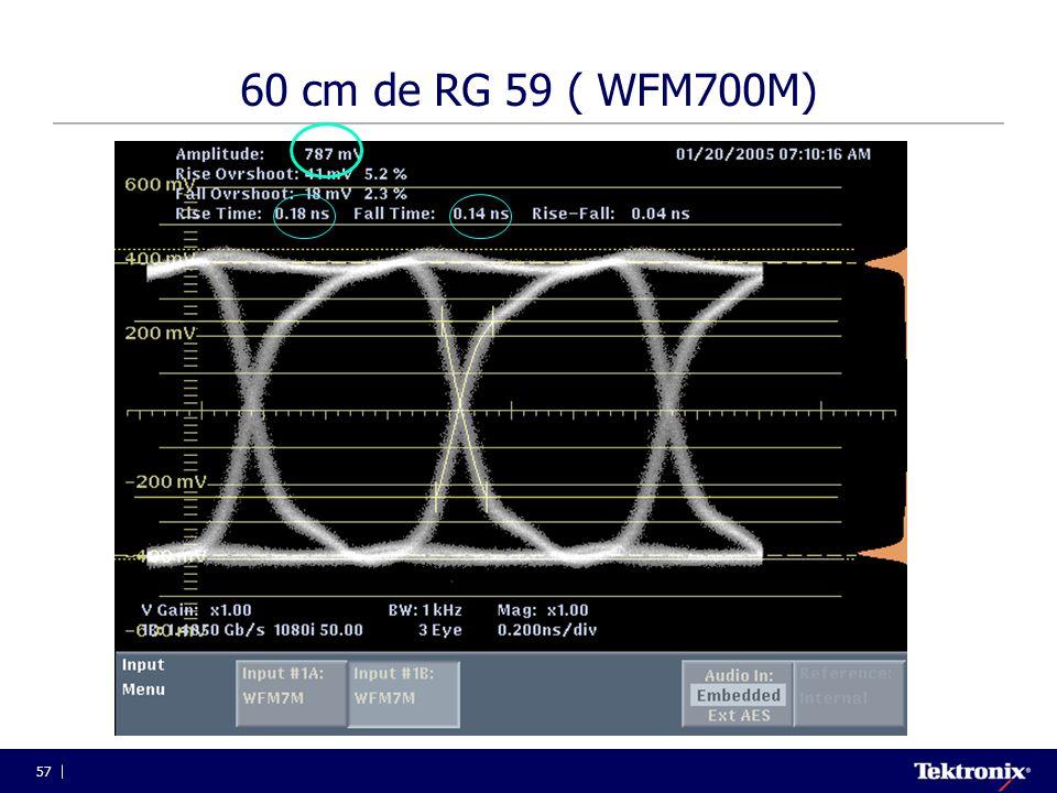 60 cm de RG 59 ( WFM700M)