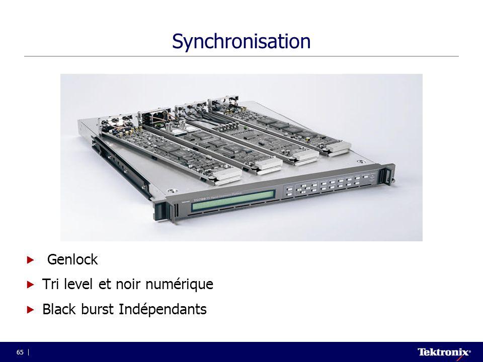 Synchronisation Genlock Tri level et noir numérique