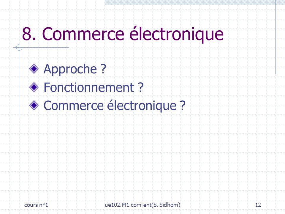 8. Commerce électronique