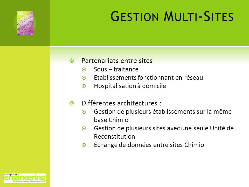 Gestion Multi-Sites Partenariats entre sites