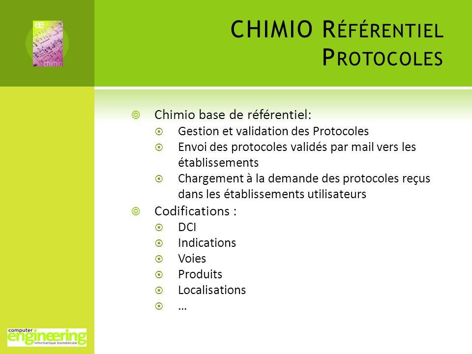 CHIMIO Référentiel Protocoles