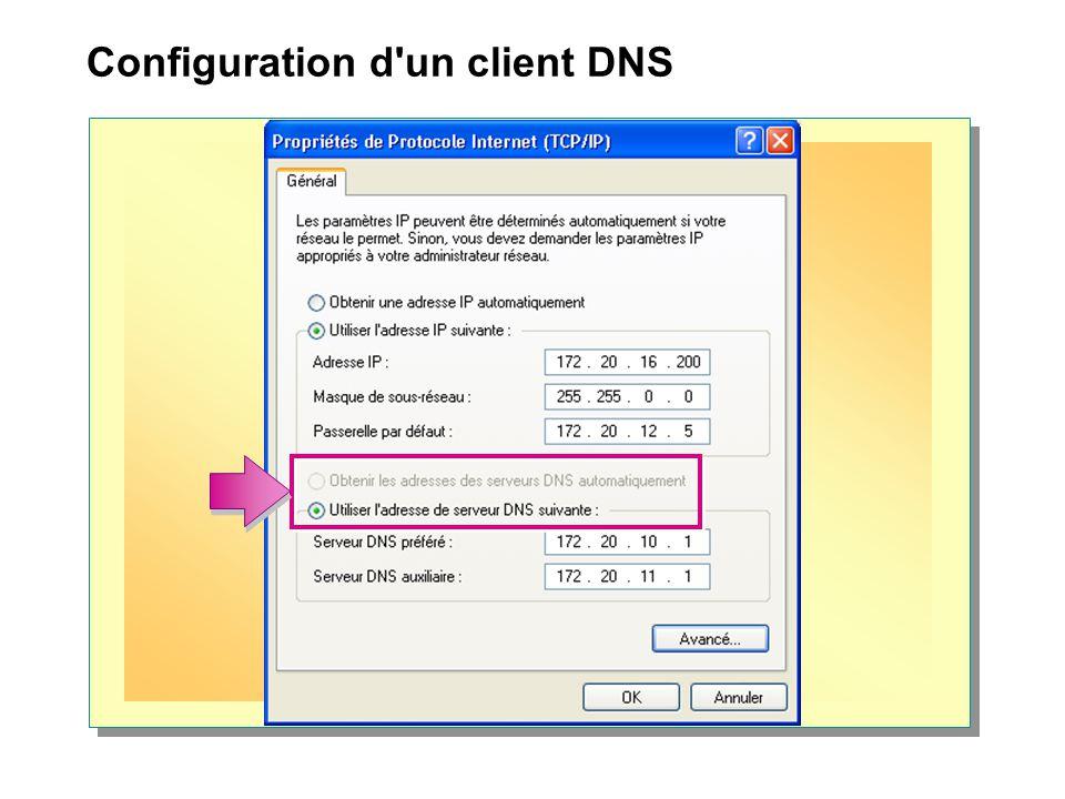 Configuration d un client DNS