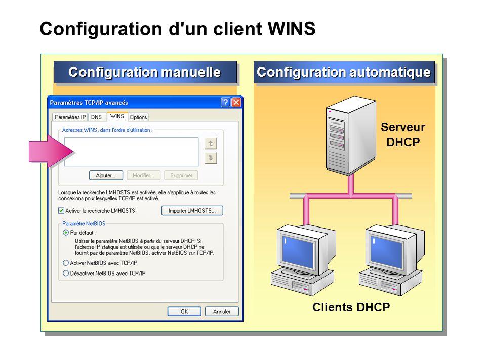 Configuration d un client WINS
