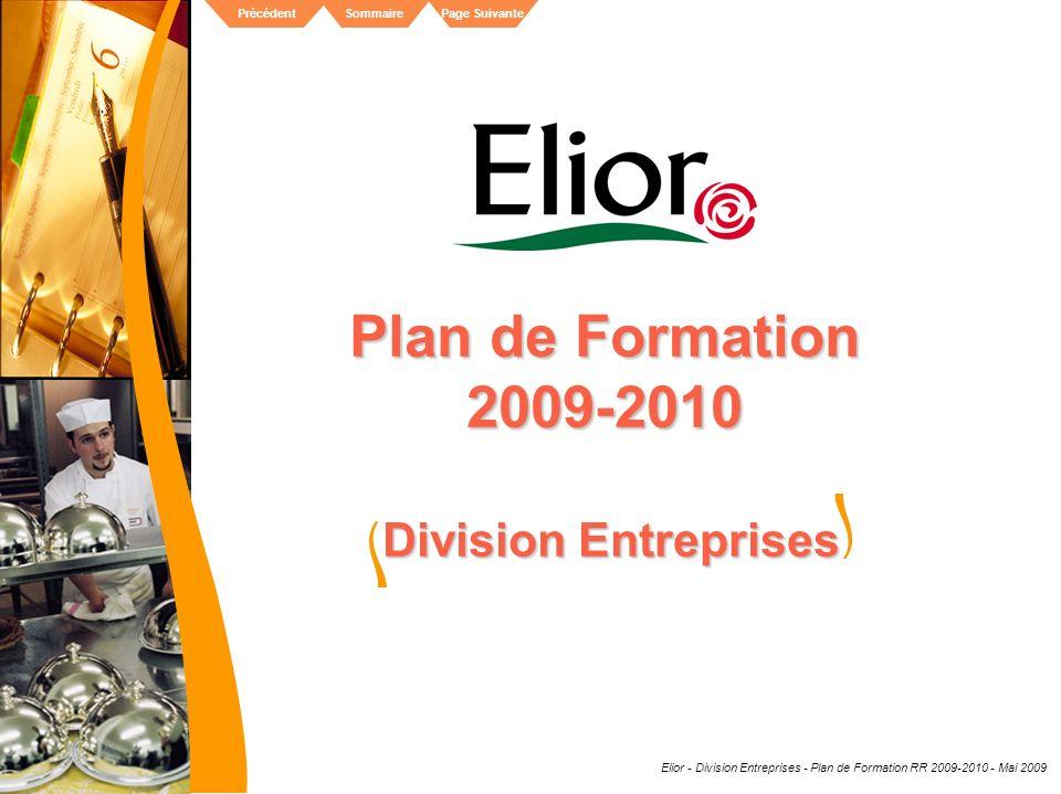 Plan de Formation 2009-2010 Division Entreprises