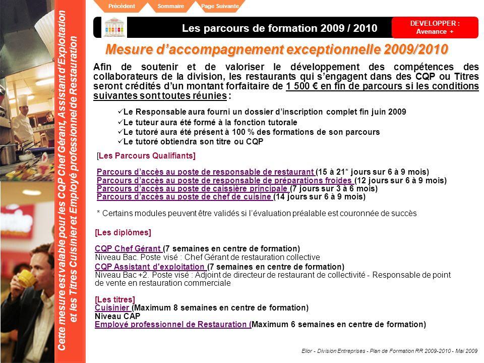 Mesure d'accompagnement exceptionnelle 2009/2010