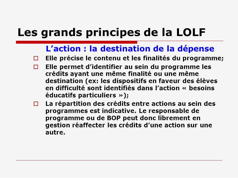 Les grands principes de la LOLF
