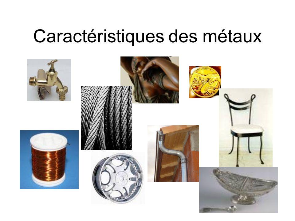 Caractéristiques des métaux