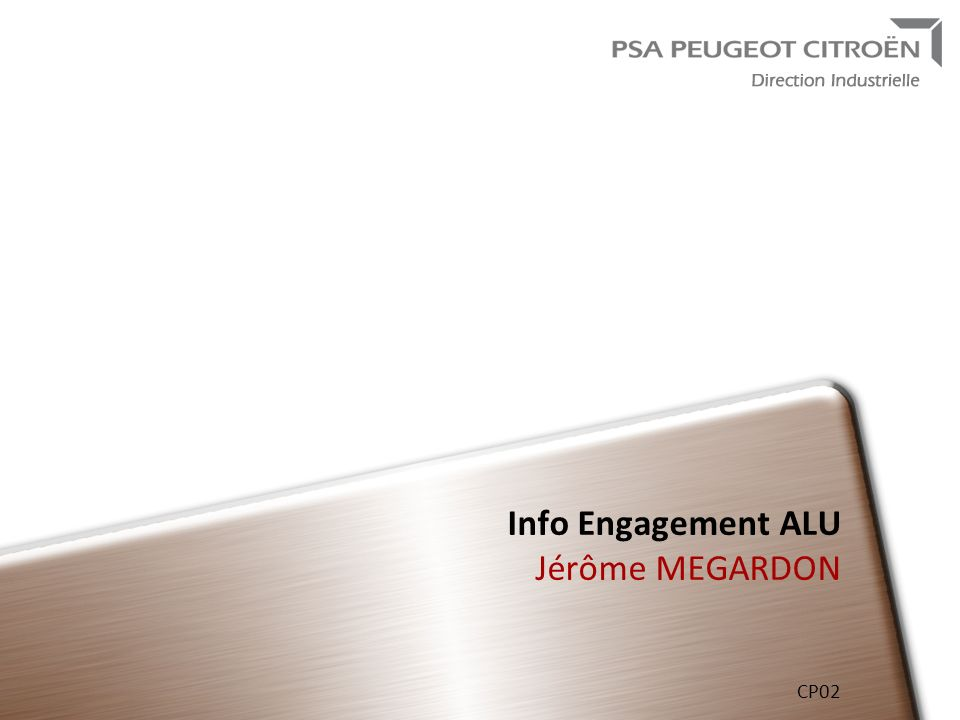 Info Engagement ALU Jérôme MEGARDON