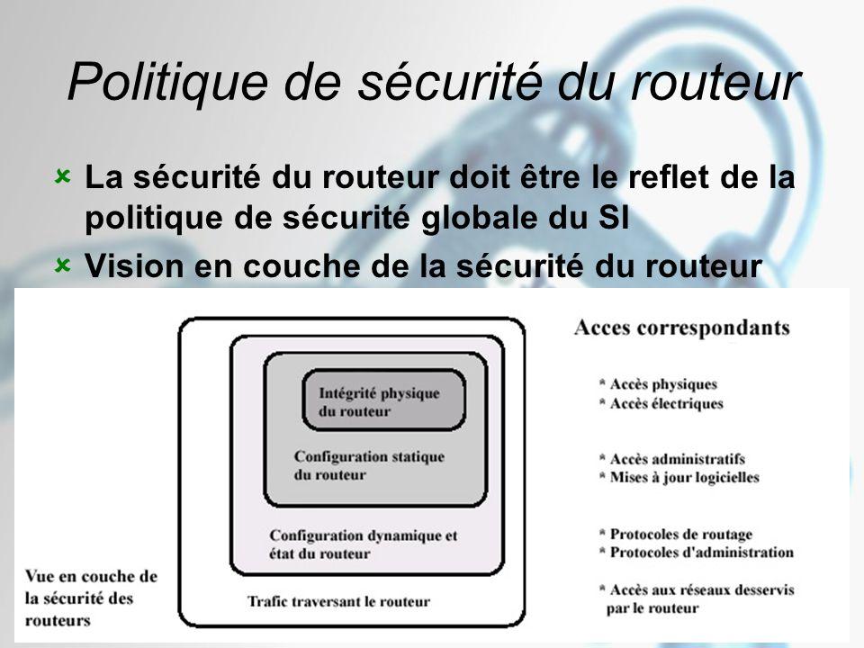 Politique de sécurité du routeur