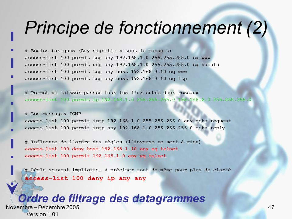 Principe de fonctionnement (2)