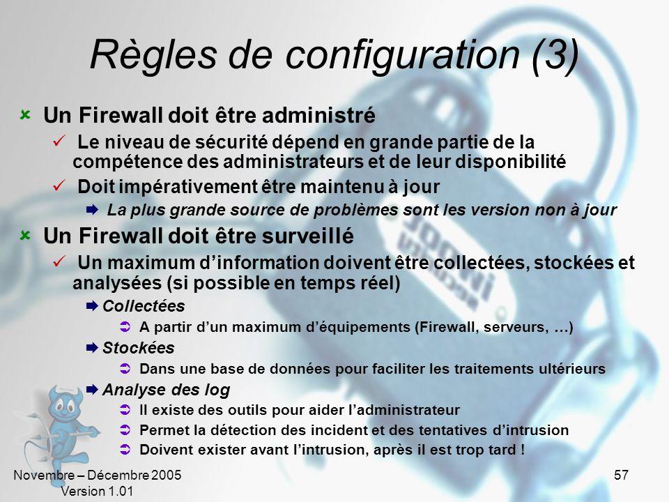 Règles de configuration (3)