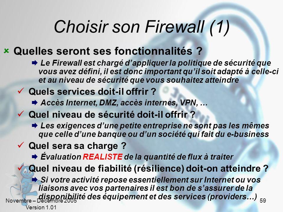 Choisir son Firewall (1)