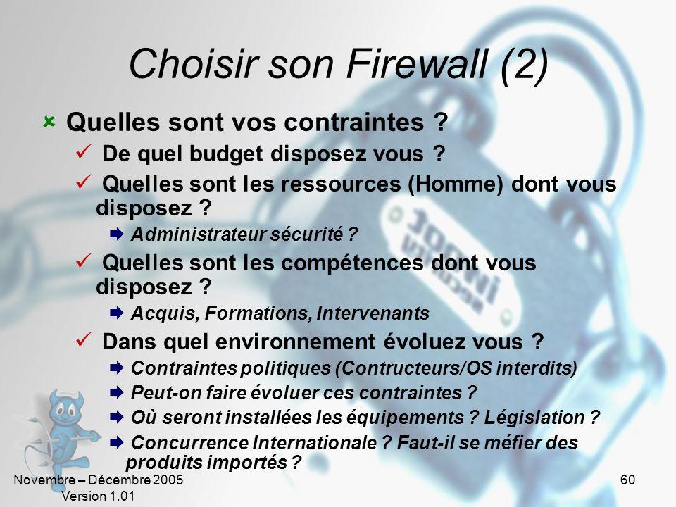Choisir son Firewall (2)