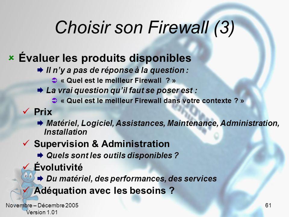 Choisir son Firewall (3)