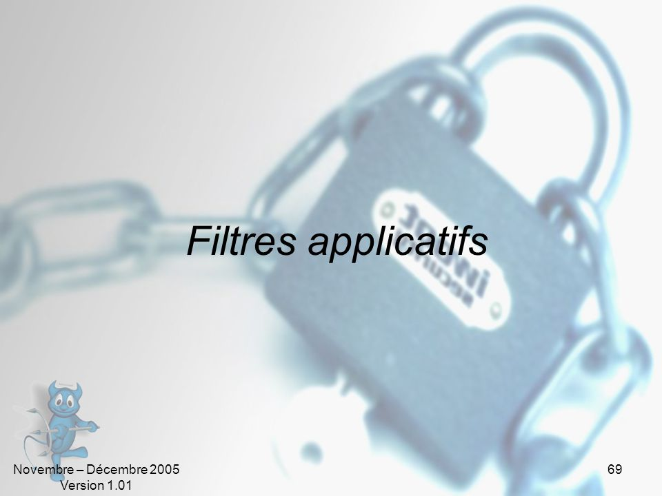 Filtres applicatifs