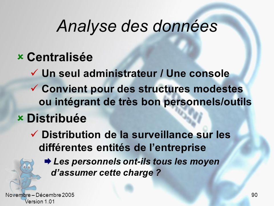 Analyse des données Centralisée Distribuée